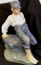 "Royal Copenhagen ""Shepherd Boy On Rock"" # 1659 Figurine (12"" tall)  Discontinued"