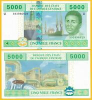 Central African States 5000 Francs Cameroon (U) p-209Ud 2002 UNC Banknote