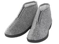 Damen Hausschuhe Pantoffeln Pantoletten Schuhe warm gefüttert grau Gr. 37-41 NEU