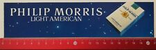 Autocollant/sticker: PHILIP MORRIS LIGHT American (12041763)