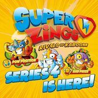 Superzings Serie 4 Niños Kazoom Oro Plata Escoge Tu Propio Danger Gang Radio Jet