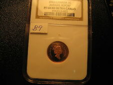 CANADA 2003 SPECIAL EDITION VERY RARE GOLD PLATED PENNY PF 68 ULTRA RED CAMEO