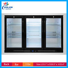 Commercial Back Bar Refrigerator undercounter 3 Glass Door Beer cooler Nsf