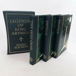 Legends Of King Arthur Folio Society 3 Book Set With Slip Cover 2001 VGC
