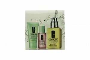 CLINIQUE 3 STEP SKIN CARE KIT FOR OILY/COMBINATION SKIN 3 PIECES - WOMEN'S. NEW