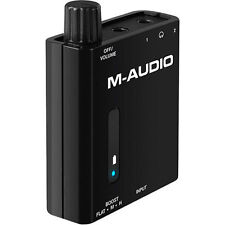 M-Audio Bass Traveler Battery Powered Portable Headphone Amplifier Inc