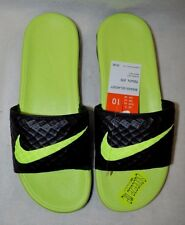 Nike Men's Benassi Solarsoft Slide Black / Volt Slides Sandals - Asst Sizes NWB