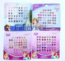 Princess Sofia 10 Sheets Girl Crystal Sticker Earrings Set  24 Pairs/Sheet
