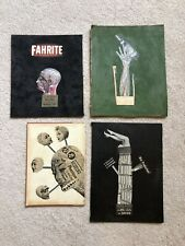 Vintage Collage Surreal Strange & Unusual Art 4 Pieces