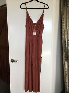 Tigerlily Banda jumpsuit Size 14 New With Tags Paid $220