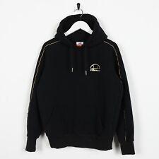 Vintage Women's ELLESSE Small Logo Hoodie Sweatshirt Black | Small S