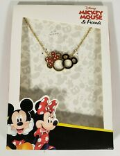 Disney Mickey Minnie Mouse NECKLACE & CHARMS  Fashion JEWELRY Gift SET NEW!