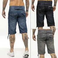 Kruze Designer Mens Denim Shorts Regular Fit Summer Casual Half Pants All Waists