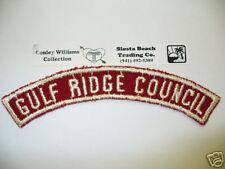RWS, Red & White Half Strip Gulf Ridge Council,FL, RARE