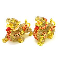 * Feng Shui * Pair of Bejeweled Pi Yao