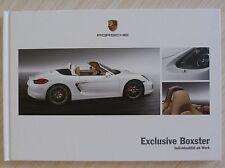 BEAU CATALOGUE LIVRE PORSCHE EXCLUSIVE BOXTER + DE 40 PAGES TEXTE EN ALLEMAND