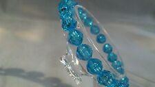 New 6mm Jewelry Gift Us Turquoise Blue Bracelet Pretty Acrylic Stretch