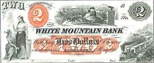 Bep Souvenir Card - $2 18xx The White Mountain Bank - Ipmc 1983