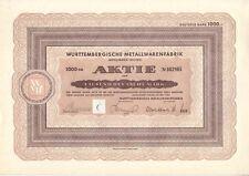 WMF Württembergische Metallwarenfabrik 1000DM Geislingen Steige 1953