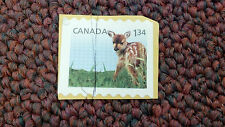 "Canada, 1.34, fawn deer, Stamp, 1"" x 3/4"""