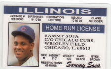 Sammy Sosa the Chicago Cubs fake Id i.d. card Drivers License