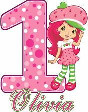 Strawberry Shortcake Birthday Party t Shirt Iron On Transfer Personalized Decal