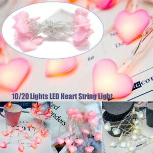 LED String Lights Heart Shaped LED Fairy Lights Home Girls Bedroom Romantic Gift