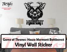 Game of Thrones House Mormont Battlecrest Vinyl Wall Sticker