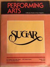 SUGAR Theatre Program August 25, 1984, Ticket Stub Taped Inside, Joe Namath