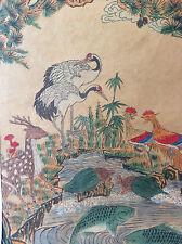 Aquarelle sur papier Japon art asiatique symbolisme animaux mythiques Nippon