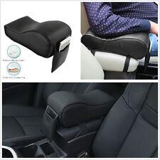 Portable Black Leather Car Truck Center Armrest Heighten Pad Cushion Storage Bag