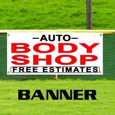 Auto Body Shop Free Estimates Banner Sign Repair Dent Paint Work Shop