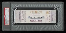 PSA 5 KANSAS CITY SCOUTS 1975 Unused NHL Hockey Ticket at The Los Angeles FORUM