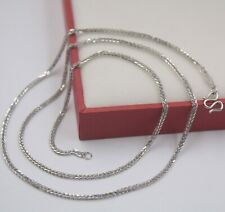 """Real Pt950 Pure Platinum 950 Perfect Wheat Chain 1.4mm Woman's Necklace 18.5""""L"""
