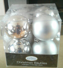 Christmas Tree Decorations Baubles 8 in a pack ****NEW