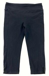 Alo Women's Cropped Leggings Pants Black • Large