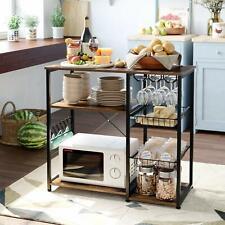 Küche Lagerung Regal Bäcker Rack Mikrowelle Stand Gewürz Rack w/Glas Halter