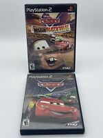 Disney Pixar Cars + Mater-National (Sony PlayStation 2, PS2, 2006) Complete