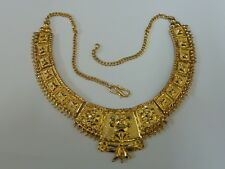 "Stunning Ladies 18ct Gold 15"" Very Fancy Plate Choker Necklace"