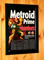 Metroid Prime Hunters Rare Small Poster / Ad Page Framed Wii U Nintendo DS.
