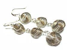 Unique .925 Sterling Silver Twist Style Earrings - Dangle - FREE S&H - L@@K!!!