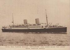 Royal Mail Turbine Steamer 'Asturias' - 1938 Postcard