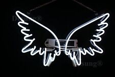 """New Angel Wing Wall Decor Acrylic Back Neon Sign 20""""x15"""""""