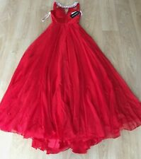 SHERRI HILL 50988 Fairytale Glamour Appliquéd Evening Gown - RED - Size: 4