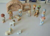Hallmark Nativity Set Mary Hamilton 1981+ w/ Boxes VHTF Christmas Hand Painted