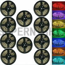 SUPERNIGHT® 1/2/5/10Pcs 5M 16.4ft RGB 5050/3528 300Leds Flexible LED Strip Light