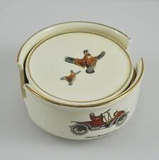 6 Wächtersbach porcelana posavasos-auto-reclamos-caballos - jinete