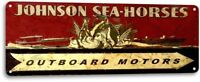 Johnson Sea Horse Outboard Motors Boat Marina Retro Garage Decor Metal Tin Sign