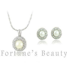 Pearl Alloy Costume Jewellery Sets