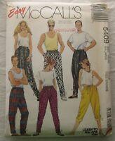Vintage Pants Sewing Pattern*McCalls 5409*Sz XL*UNCUT/FF*Plus Size*harem*unisex